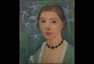 6.paula_modersohn-becker_1876-1907autoportrait_sur_fond_vert_avec_des_iris_bleus